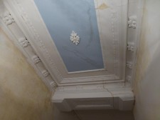 Water damange cornice repair in East Finchley